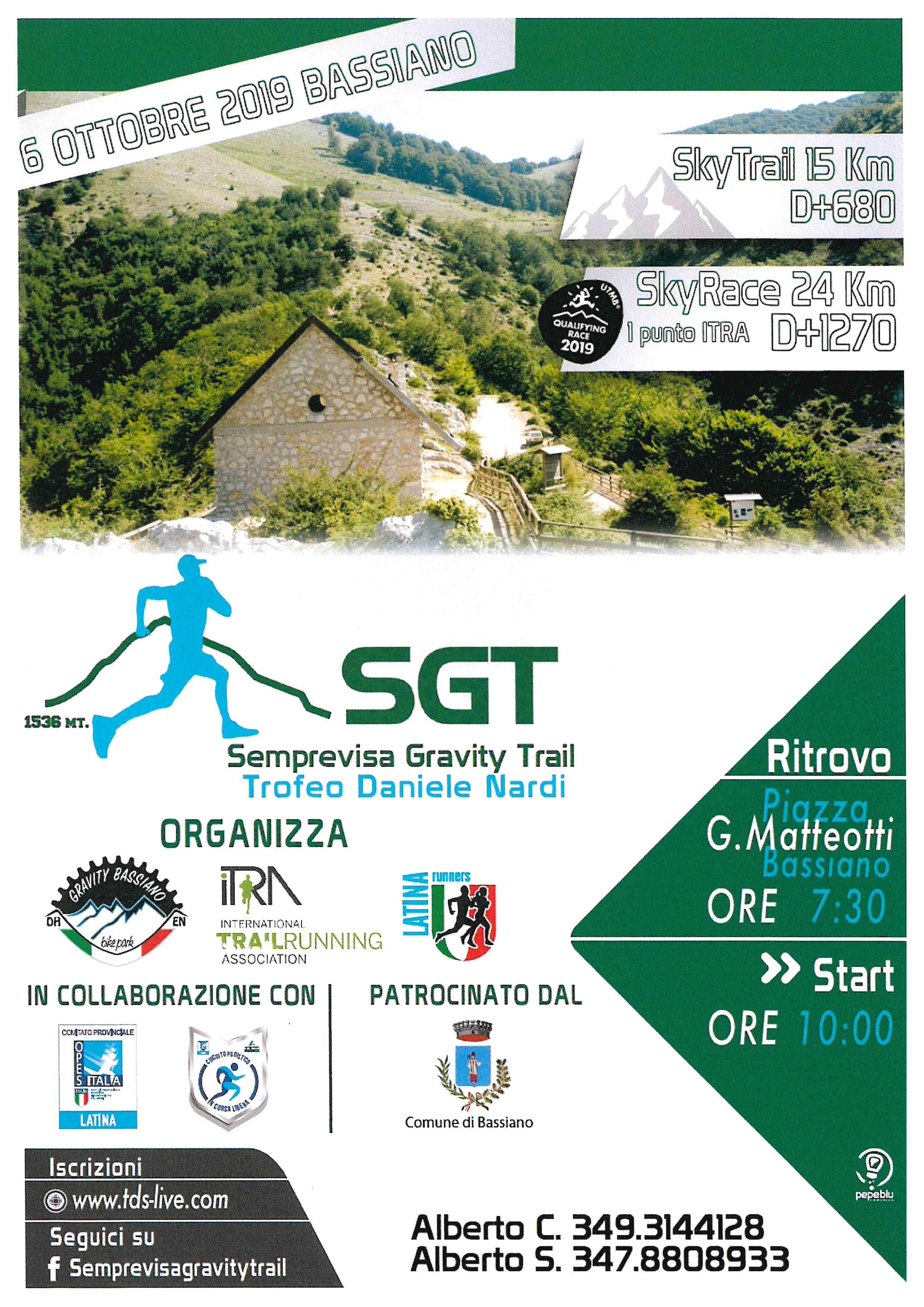 SGT SEMPREVISA GRAVITY TRAIL  TROFEO DANIELE NARDI - Ritrovo Piazza G. Matteotti ore 07:30 - Start ore 10:00