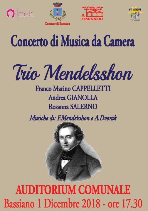 CONCERTO DI MUSICA DA CAMERA - 1 DICEMBRE 2018 ORE 17.30