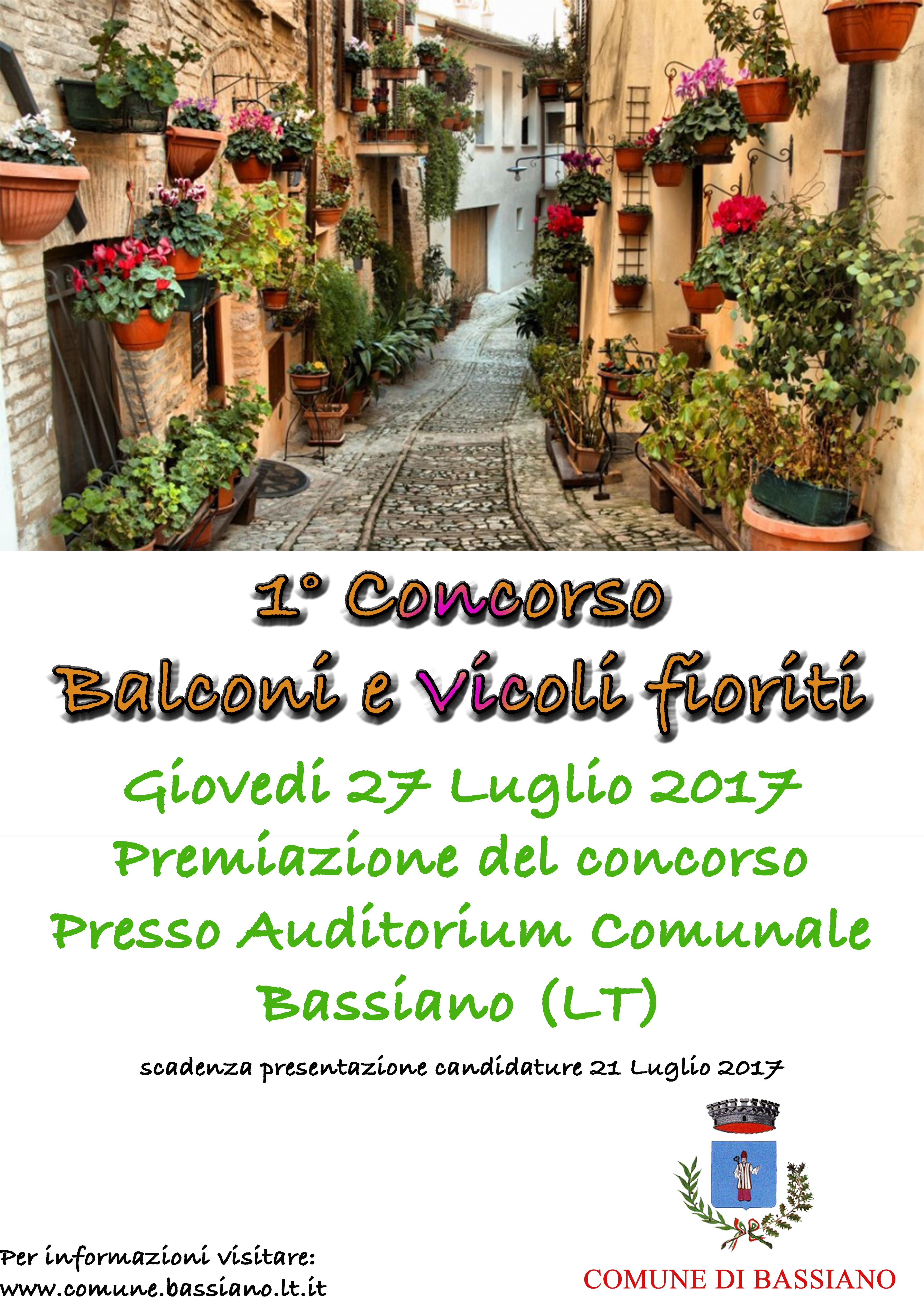 CONCORSO BASSIANO IN FIORE  - 1^ Edizione 2017.