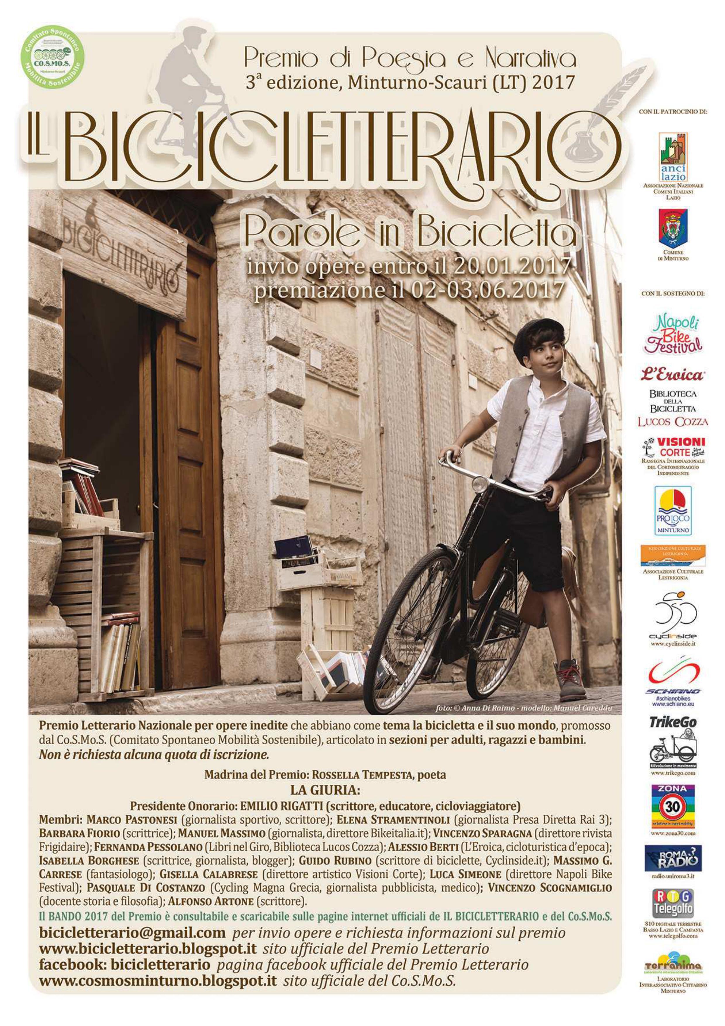 IL BICICLETTARIO - parole in bicicletta - Premio Nazionale poesia e narrativa III edizione