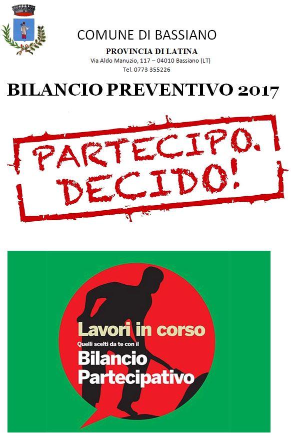 BILANCIO PARTECIPATO 2017