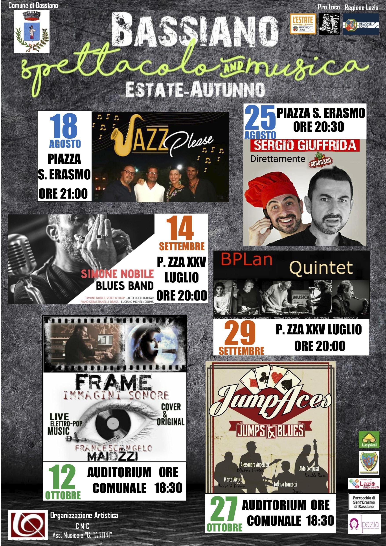Bassiano Spettacolo and Musica - Estate Autunno