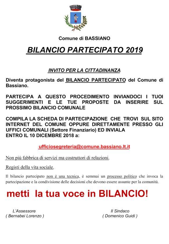 BILANCIO PARTECIPATO 2019