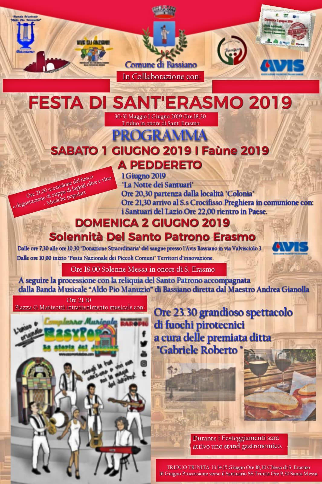 FESTA DI SANT'ERASMO 2019