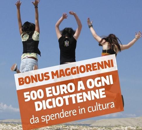BONUS MAGGIORENNI - 500 EURO DA SPENDERE IN CULTURA