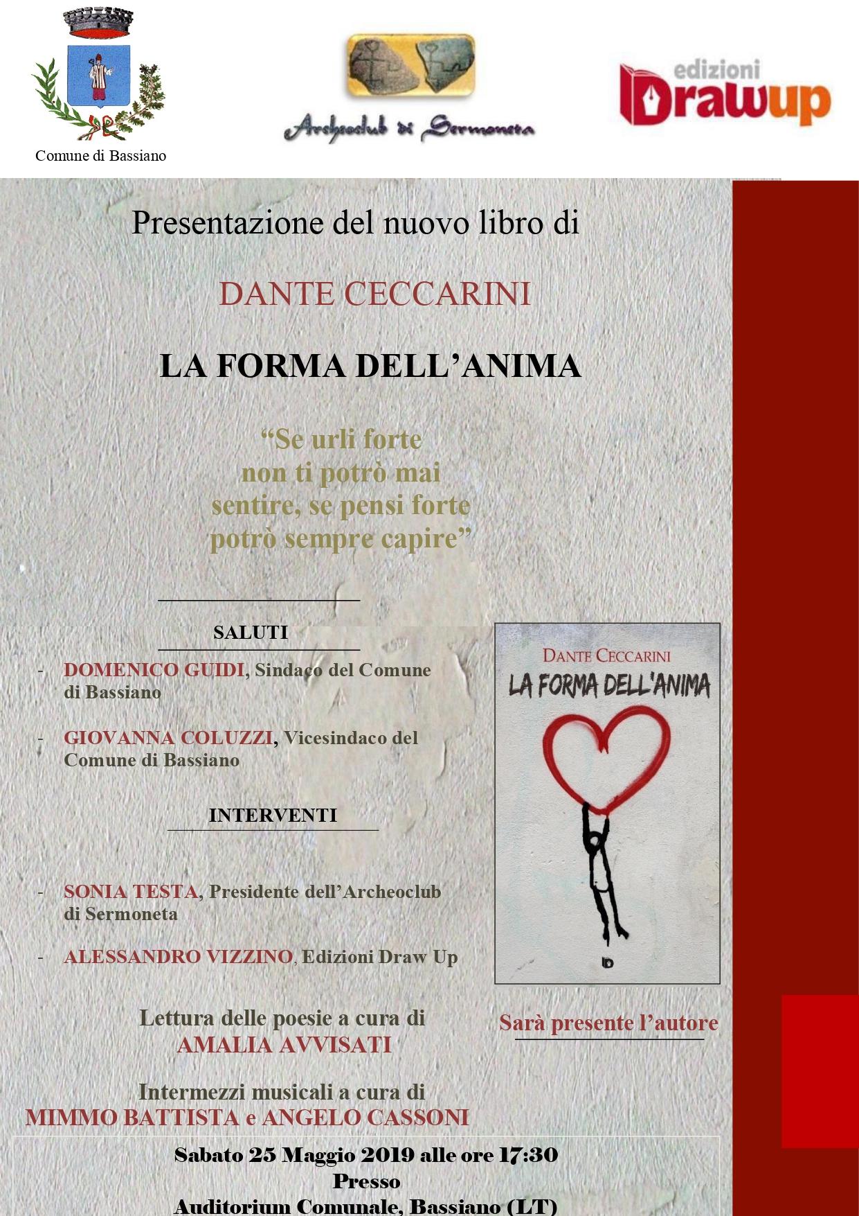 Presentazione del libro LA FORMA DELL'ANIMA di Dante Ceccarini