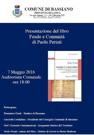 Presentazione del libro Feudo e Comunita'