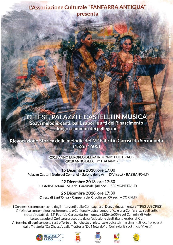 """""""CHIESE, PALAZZI E CASTELLI IN MUSICA"""" - BASSIANO 15 DICEMBRE 2018 ORE 17.00"""